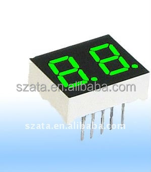 cheap price two digits numeric led display with green emitting color