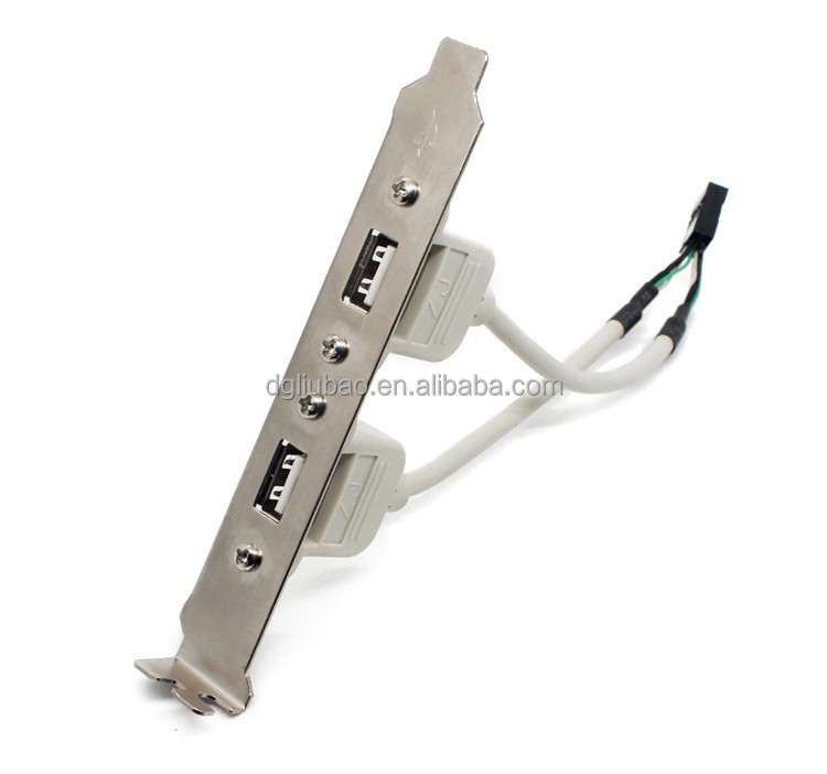Usb 2.0 Motherboard Panel Mount Cable,2 Port 9pin Header Cable ...