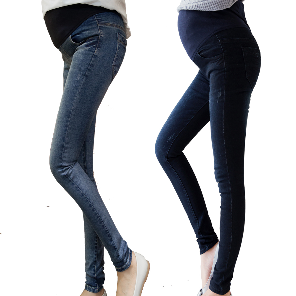 2016 Spring Maternity Jeans High Quality Elastic Waist Trousers Pregnant Women Denim Pregnant Jeans Maternity Clothing