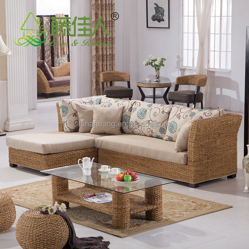 Seagrass sectional sofa furniture design refil sofa - Muebles de rattan ...