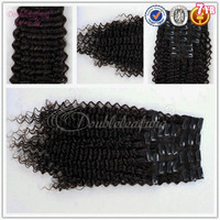 9pieces Clip in kinky curly hair clip on extensions for African American