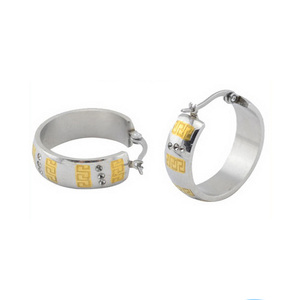 fe63573236a95 ZS08115 surgical steel with gold cool boy earrings , handcuff hoop earrings