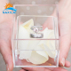 NAXILAI Luxury Clear Acrylic Ring Box Small Acrylic Storage Box Cosmetic Box For Packing Jewelry