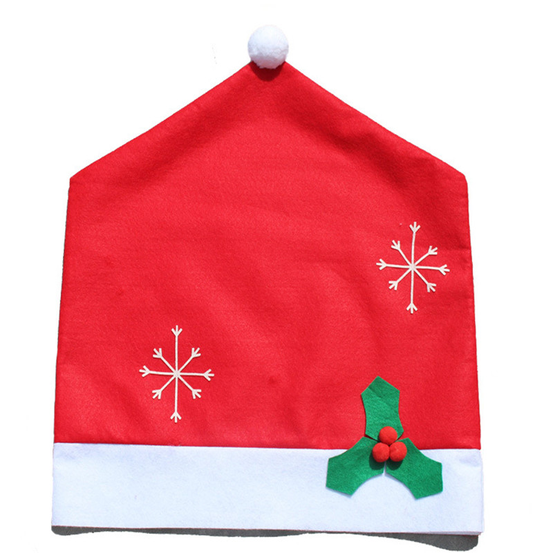 New Stylish Fashion Stylish Design 1 Set Santa Red Hat Chair Covers 128*184cm Christmas Tablecloth Home Decorations Dinner Gift