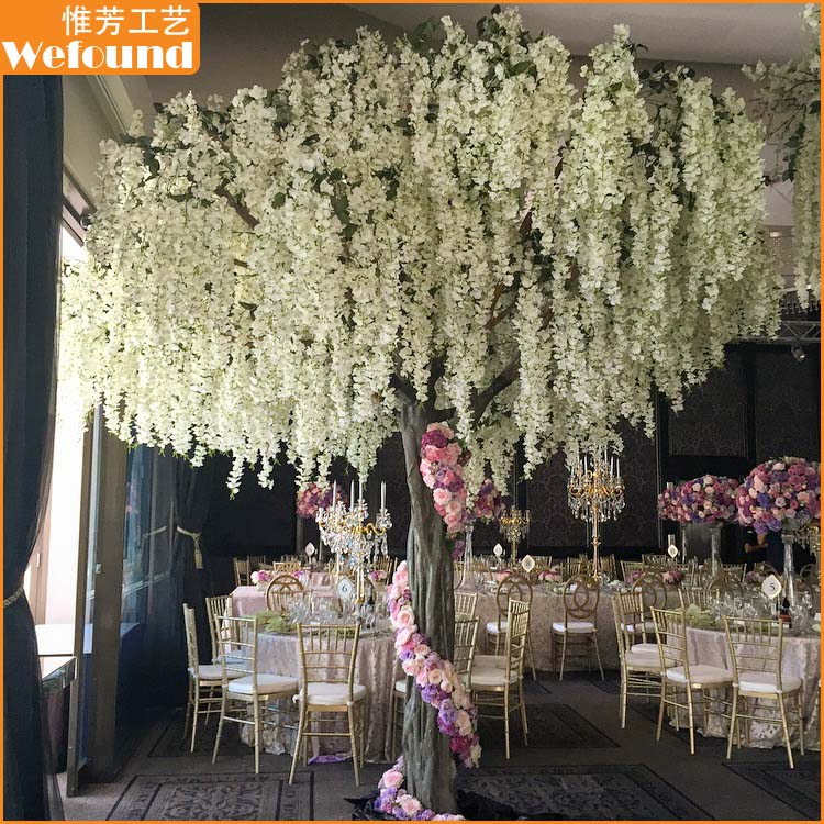 Artificial White Wisteria Flower Tree For Wedding Decoration Buy