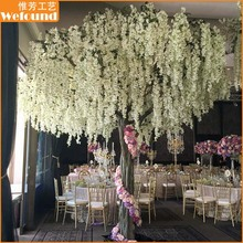 Artificial white wisteria flower tree for wedding decoration