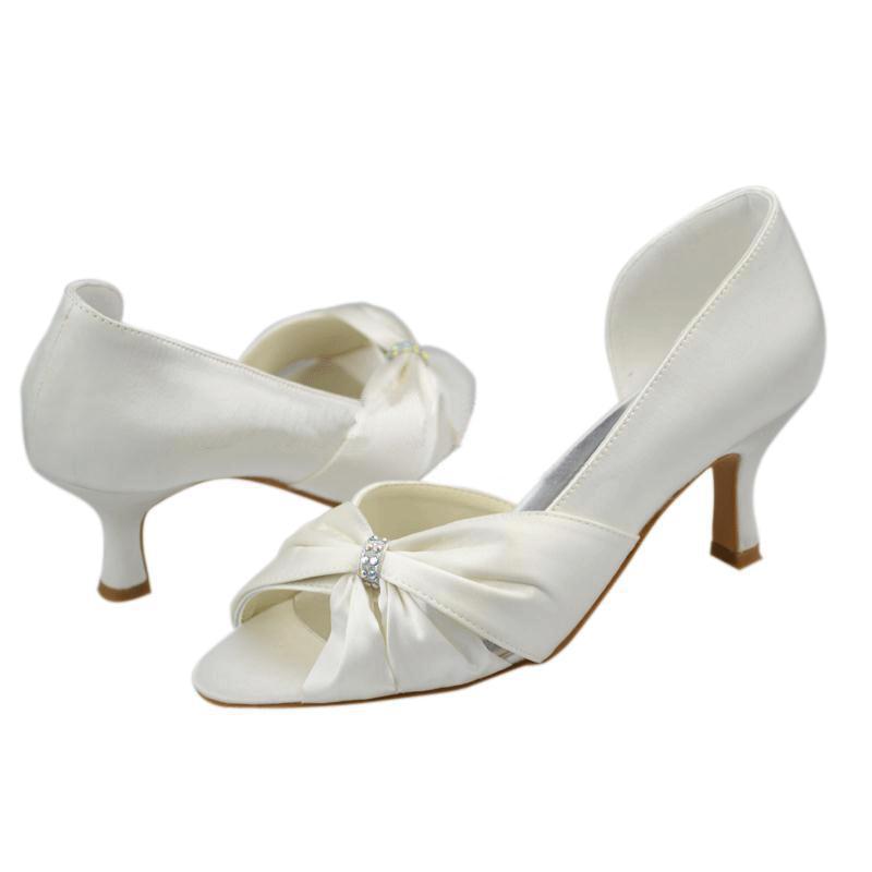 Cheap Wedding Heels: Cheap White Women's Wedding Shoes Fashion Heels Evening