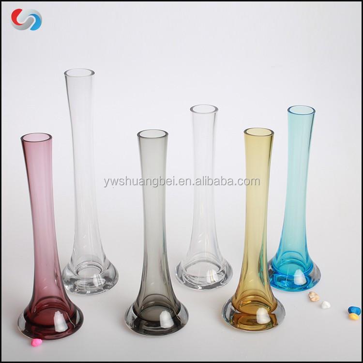 Wedding Decorated Colored Glass Tube Vasehandmade Single Flower