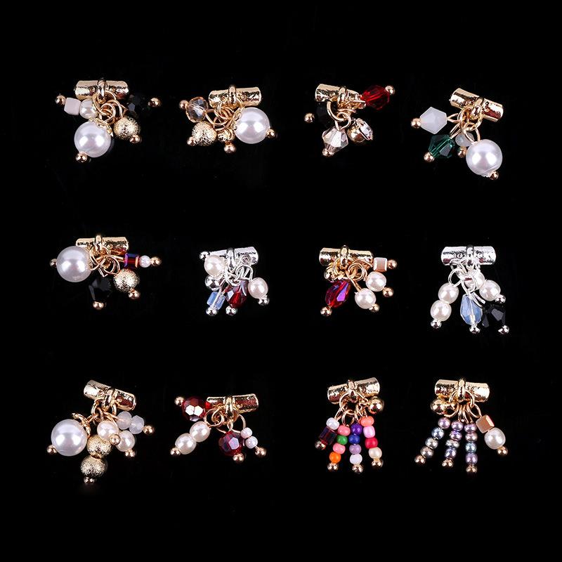 Free shipping Manicure tools new crystal diamond diamond pearl pendant jewelry bride decorative handmade nail polish