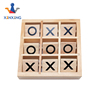customer design wooden board game tic tac toe game pieces with high quality