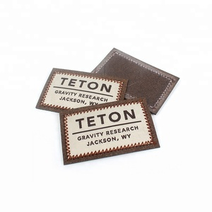 Leather Patches Maker New Design Custom Clothing Trademark Suede Labels with Woven Brand Name Logo