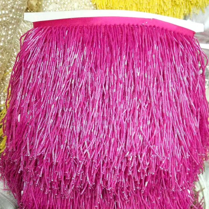 Wholesale 15CM Crystal Fringe for Dress Decoration
