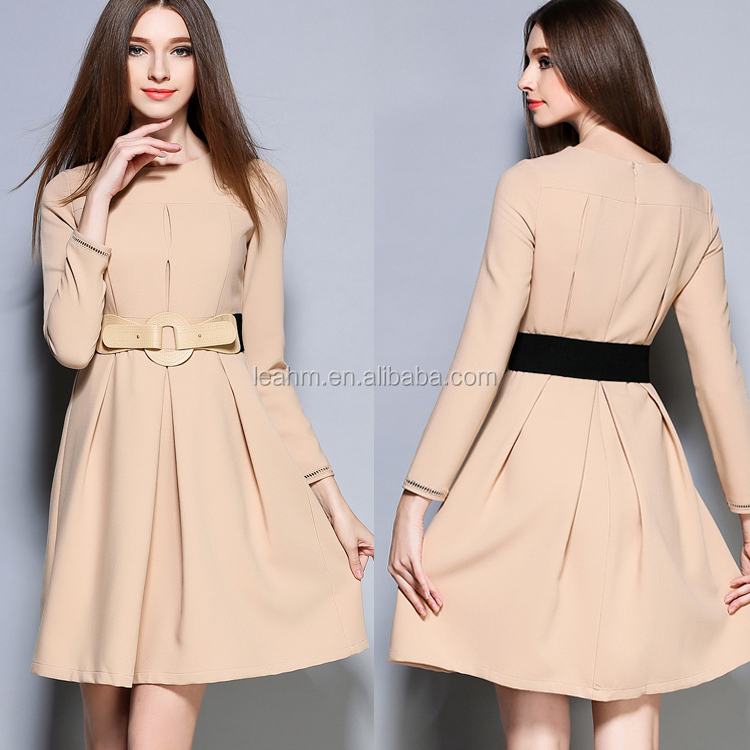 long sleeve fashion clothing women clothes ladies wholesale dropship office dresses women