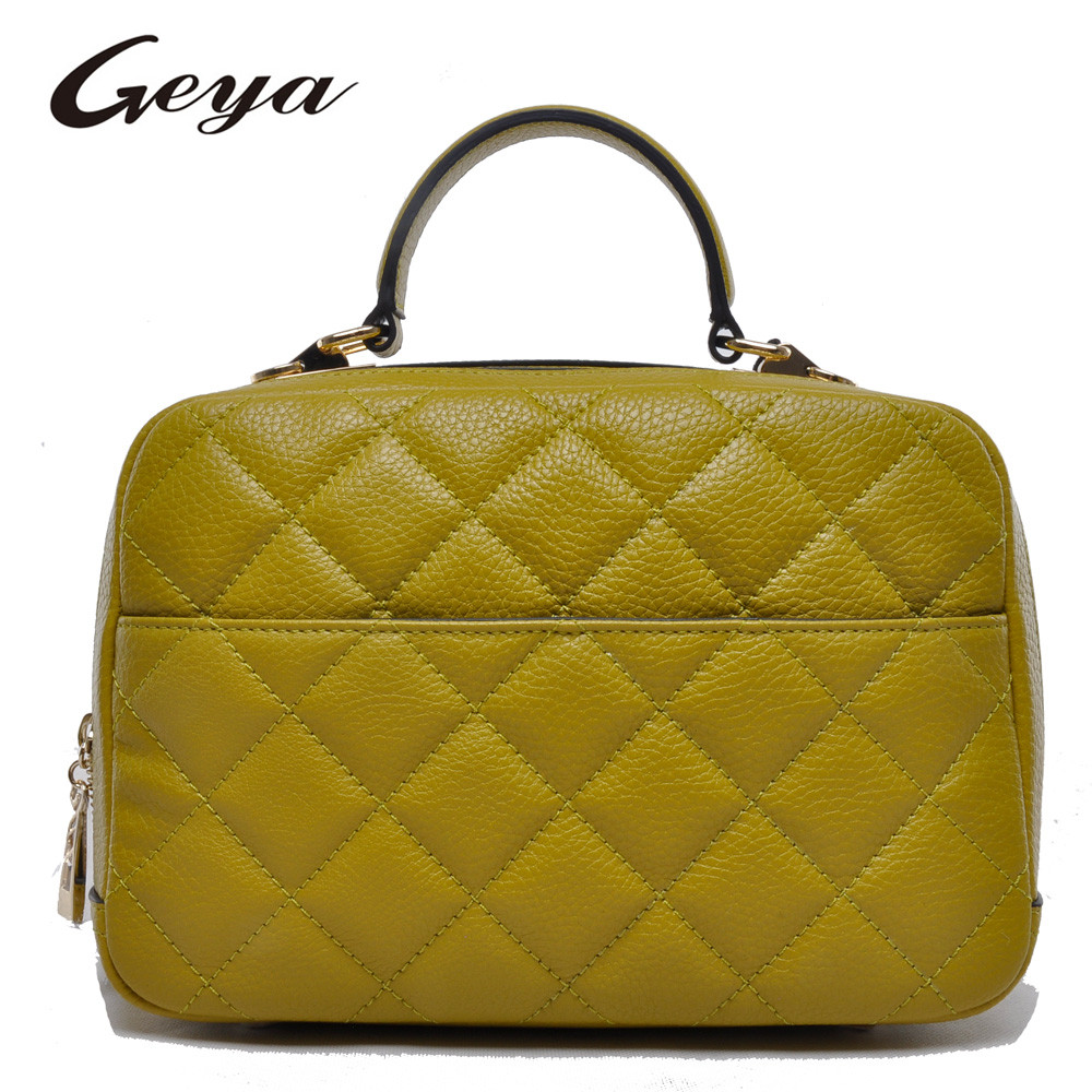 2016 Best Selling Design Elegant Design 100% Genuine Cow Leather Quilted Tote Bag