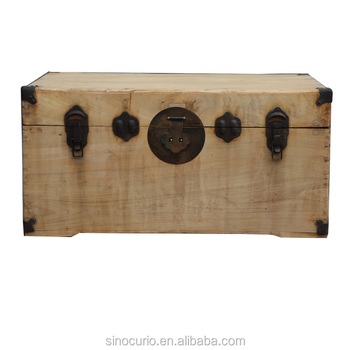 Chinese Antique Decorative Wooden Boxes Camphor Wood Storage Trunk New Chinese Decorative Boxes