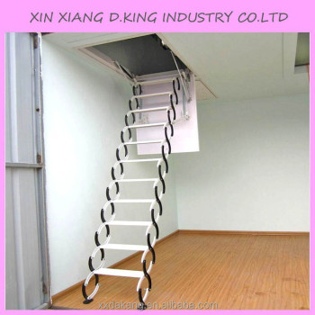 Aluminum Folding Attic Ladder With Handrail
