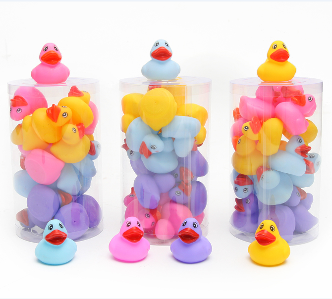Promotional mini rubber duck, PVC children bath toy with OEM