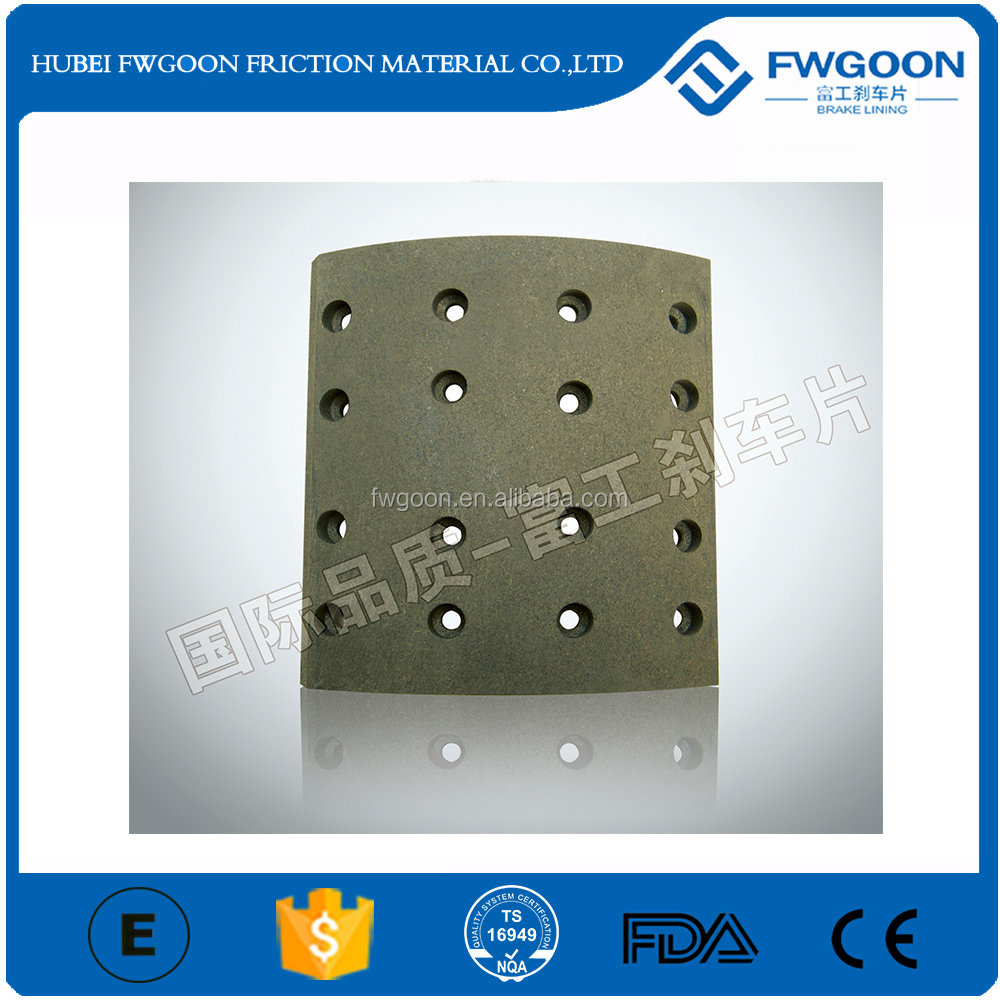 OEM Friction Product Brake Linings for 16t tractor Factory Price with top quality
