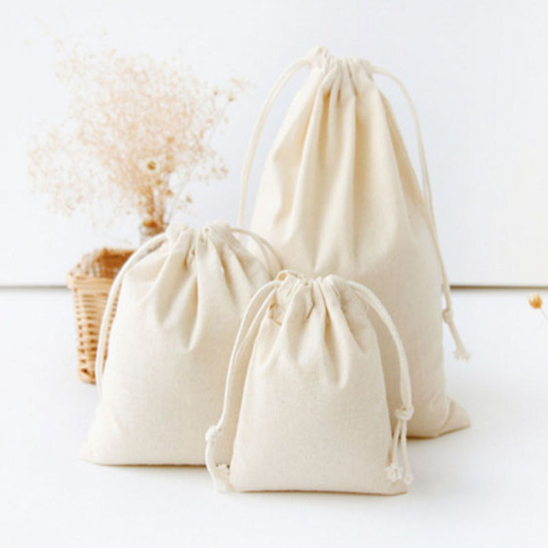Custom Small Cotton Muslin Drawstring Bag Product On Alibaba
