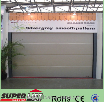 Silver Grey Mirror Face Auto Garage Door With Good Quality