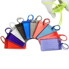 Promotional hotel bulk standard size plastic personalized travel soft blank rubber PVC custom luggage tag