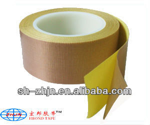 White &Brown PTFE Glass Cloth Silicone Adhesive Tape with Release Paper