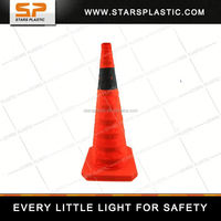 COLLAPSIBLE HIGH REFLECTIVE SINGLE STRIPED ORANGE TRAFFIC CONE