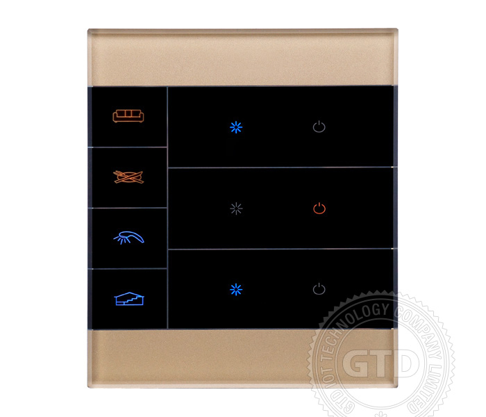 smart home zigbee lichtschalter touch panel handy oder. Black Bedroom Furniture Sets. Home Design Ideas