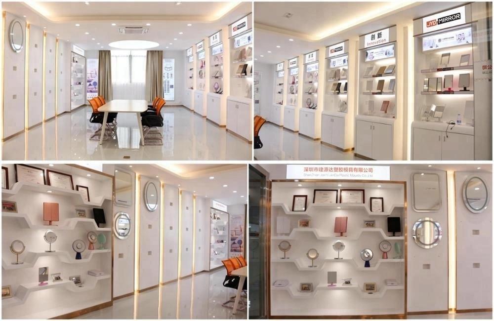Grand miroir blanc de bureau Hollywood avec ampoules maquillage coiffeuse coiffeuse grande