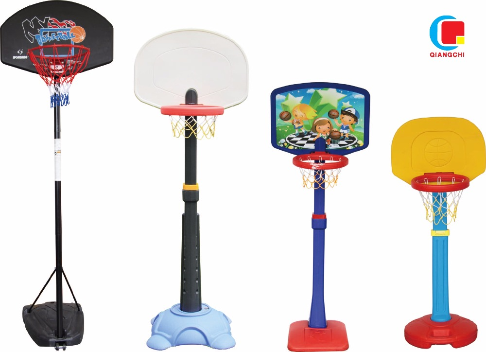 Taizhou factory indoor adjustable plastic portable moveable basketball stand/hoops for Kindergarten