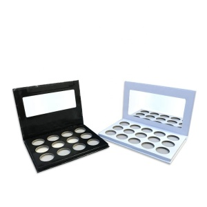 Cosmetic empty custom eyeshadow palette packaging make your own brand empty eyeshadow palette