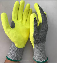 China good quality cheap safety glove cut resistant glove level 5 nitrile coated nitrile gloves