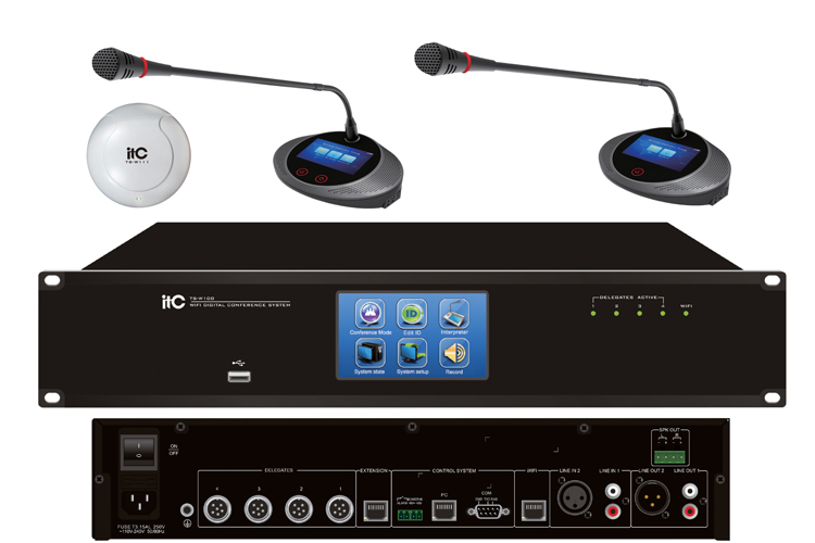 New Design Conference Room Sound System Equipment Microphone Wifi Wireless Conference System