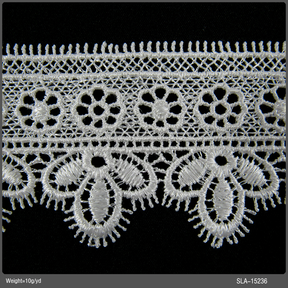 Stock Lace Factory Eyelash Bridal Dresses White Water Soluble Lace Fabric