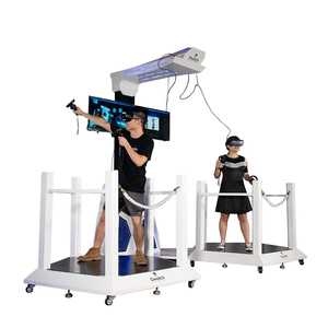 Modern technology double players vr space walking platform with touch screen controller