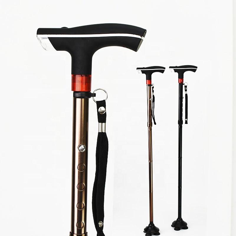 Behinderte Freistehende Quad Spazierstock Unterstützung Medizinische Vier Beine Old Man Walking Stick Gesundheitsversorgung