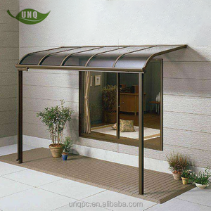 Polycarbonate patio canopy/awning kits with patio awning lights