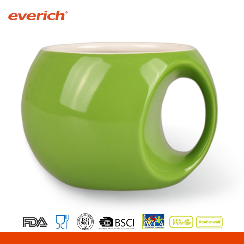 Thermal mug sublimation ceramic with spill proof lid