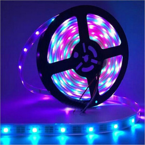 Sequential 5m Programmable UV 5050 SMD RGB outdoor indoor 12V 24V digital addressable rgb led strip