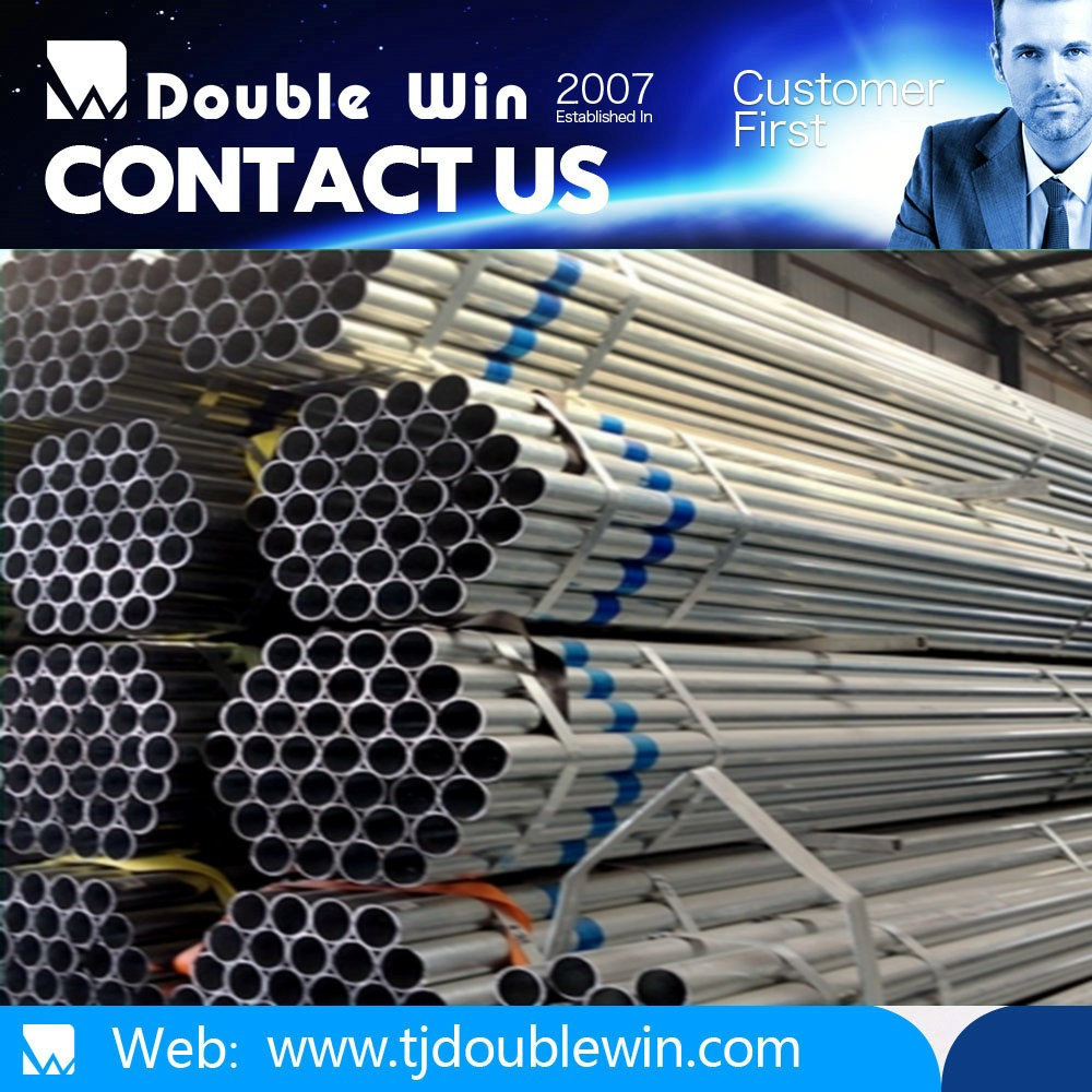 Welded Galvanized Steel Pipe /Threaded Mild Hot Dipped Galvanized Steel Pipes