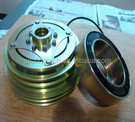 Pulley Clutch for Bizter 4nfcy , Bock , denso, Carrier, Thermo king x430 426 Compressor in Bus air conditioner, Linning Clutch.