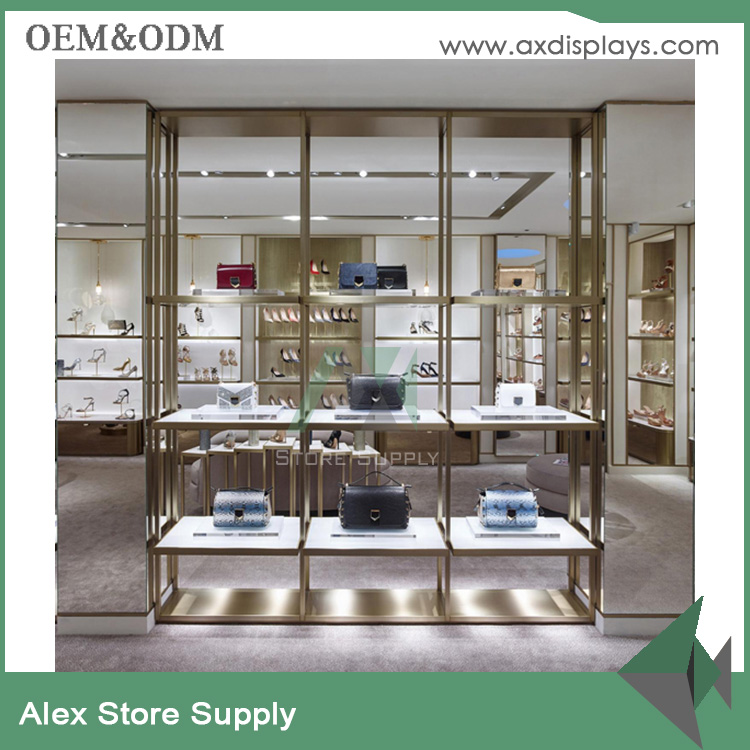 manufacturer handbags shop displays fixtures wall display for shoes