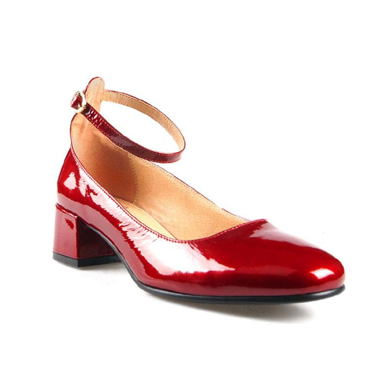 womens red block heels