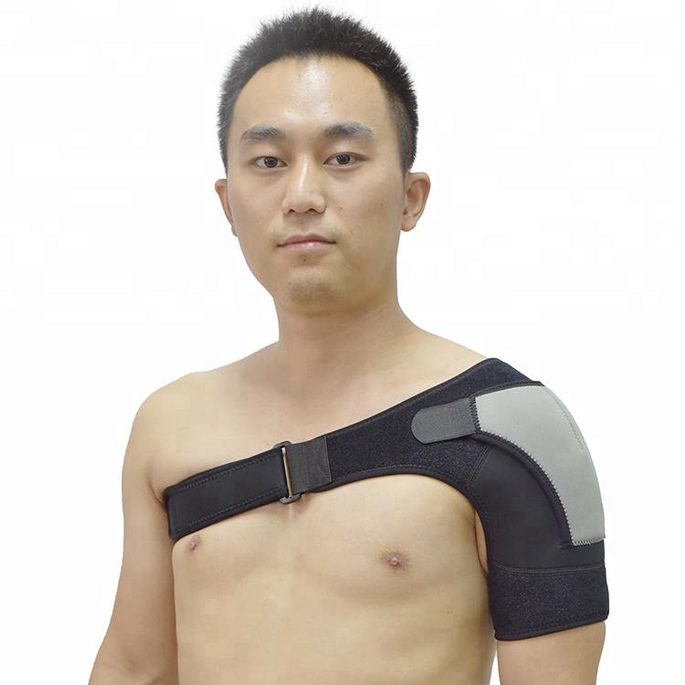 Wholesale Adjustable Left and Right Universal Shoulder Brace Wraps, Black or customized color