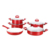 9pcs Aluminum cooking pots and pans Durable forged die casting ceramic non stick cookware set with induction bottom