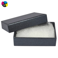 Cheap luxury cotton filled jewelry boxes with custom logo