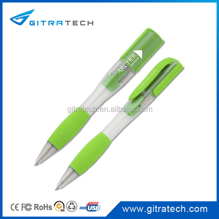 Multi Color Plastic Pen Flash Drive Signed Contract Promo Imprint Logo Flash Memory