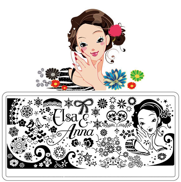 New Design Factory Outlets Dream Girl Series Nail Stamping, Professionals Nail Art Stamping Plates