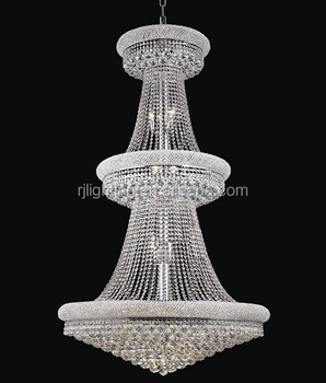 Large Silver Project Church Pendant Lights Crystal Chandelier Lighting Hotel Chandeliers For