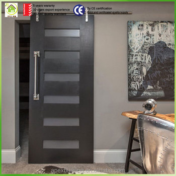 With Barn Door Hardware 6 Panel Sliding Barn Door
